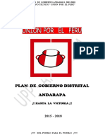PLAN  DE  GOBIERNO ANDARAPA 2018