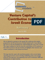 Venture Capital's Contribution to the Israeli Economy, by Yacov Sheinin and Chen Herzog