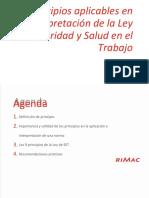 PRINCIPIOS DE LA LEY DE SEGURIDAD Y SST