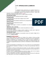 PARCIAL Nº1  INTRODUCCION AL DERECHO