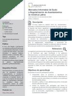20 11 Mercados Suelo Informalidad Programa