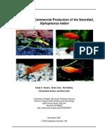 A Manual for Commercial Production of the Swordtail, Xiphophorus helleri