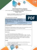 Guia de actividades y Rúbrica de evaluación - Unidad 1 y 2 - Fase 2 - Identificación de la problemática social.pdf