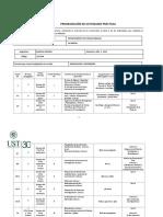 Programación de Actividades Prácticas QUI-006_2019-2 LA SERENA