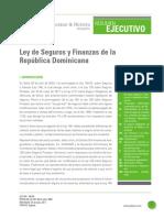 Resumen Ejecutivo Ley 146-02 sobre Seguros y Fianzas de la República Dominicana