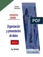 Sesión 02 - Organizacion y Presentación de Datos (Tablas y Gráficos) - 2020-1 - Sani