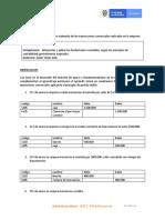 EJERCICIOS DE FOGUEO -  ASIENTOS CONTABLES