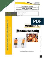 GUÍA DIDÁCTICA 5- Malnutrición - Nutrición infantil
