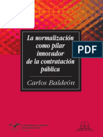 Baldeón - 2014 - La normalización como pilar innovador de la contratación pública
