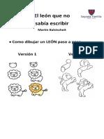 El león que no sabia escribir. Actividades.pdf
