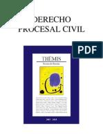 Índice THEMIS 58 Derecho Procesal Civil