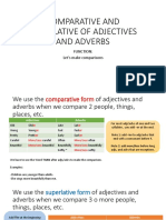 COMPARATIVE AND SUPERLATIVE OF ADJECTIVES AND ADVERBS