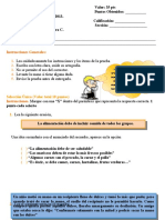 I Prueba Ampliada Español III Periodo 2013