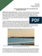 BBRSDA press release on 2020 sockeye harvest, sales