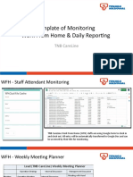 Template of Monitoring