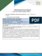 Guía de actividades y rúbrica de evaluación - Unidad 2 - Tarea 2 - Dinámica y energía