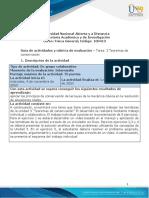 Guía de actividades y rúbrica de evaluación -Unidad 3 - Tarea 3 - Teoremas de conservación