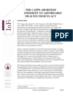 Summary of the Capps Amendment to Afford Ability Health Choices Act