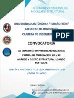 CONVOCATORIA 1er CONCURSO NACIONAL DE MODELADO ESTRUCTURAL
