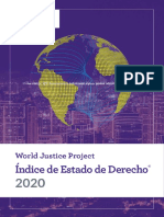 World Justice Project Índice de Estado de Derecho 2020