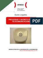 Guía sobre privacidad y secreto en las telecomunicaciones