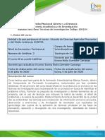 Syllabus del curso Técnicas de investigación