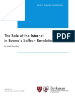 The Role of the Internet in Burmas Saffron Revolution