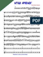 CONTIGO APRENDI-BOLERO - Trompeta en Sib