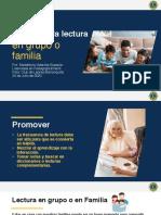Presentación incentivar la lectura en familia CDL