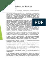 POLITICA COMERCIAL Y  DE SERVICIOS PDF