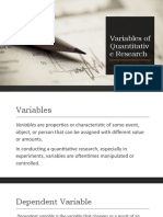 Variables of Quantitative Research