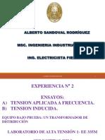 EXP N° 2- TENSIÓN APLICADA E INDUCIDA EN UN TRANSFORMADOR