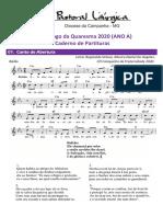 partituras quaresma 3o. dom. ano a 15-03-2020