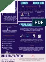 Género y tecnología- infografía