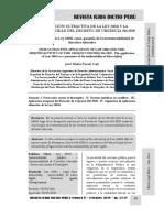 Aplicación Ultractiva de La Ley 24041 e Irretroactividad Del Decreto de Urgencia 016-2020 - Autor José María Pacori Cari