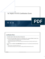 Aspen HYSYS Certification Rules and Study Guide