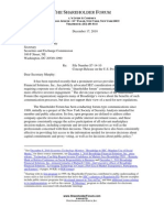 December 17, 2010 Shareholder Forum letter to SEC relating to review of US proxy system