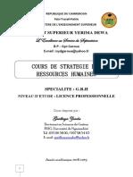 COURS DE STRATEGIE DES RH