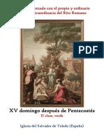 XV Domingo Después de Pentecostés. Propio y Ordinario de la santa misa
