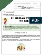 JESÚS, EL MESIAS Y MENSAJE DE JESÚS