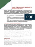 Reseña del Estudio sobre medidas de seguridad en plataformas educativas