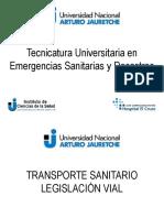 TS 2017 - Clase 04 - CLASE Legislación vial aplicable a ambulancias