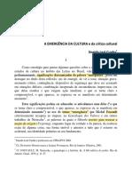 A EMERGÊNCIA DA CULTURA e da crítica cultural_eneida