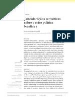 Considerações Semióticas sobre a crise política brasileira