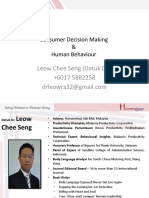 Consumer Decision Making and Human Behaviour