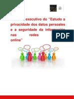 Resumo Executivo Do Estudo a Privacidade Dos Datos Persoales o a Seguridade nas Redes Sociales Online
