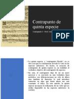 Contrapunto - Quinta especie.