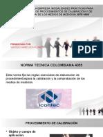 METROLOGÍA EN LA EMPRESA NTC 4055 calidad