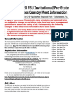 FSU Invitational HS Meet Information