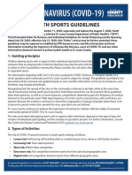 St. Louis County Orders Youth Sports Guidelines – 9/9/2020